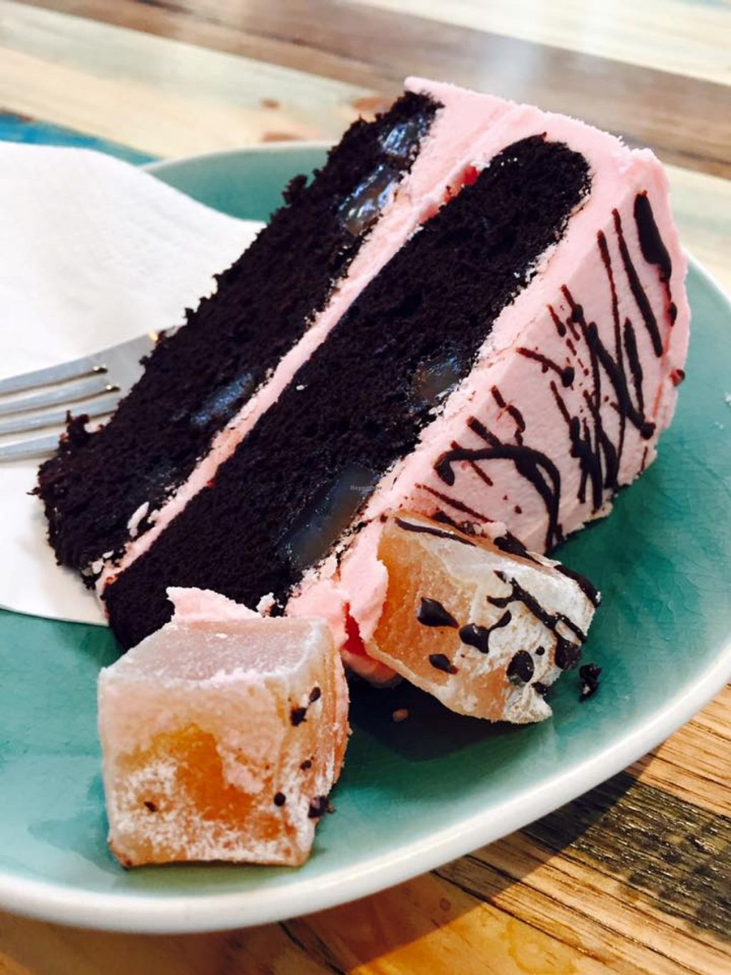 """Photo of CLOSED: The Surprise Vegan  by <a href=""""/members/profile/karlaess"""">karlaess</a> <br/>Turkish delight cake <br/> December 11, 2015  - <a href='/contact/abuse/image/66529/127910'>Report</a>"""