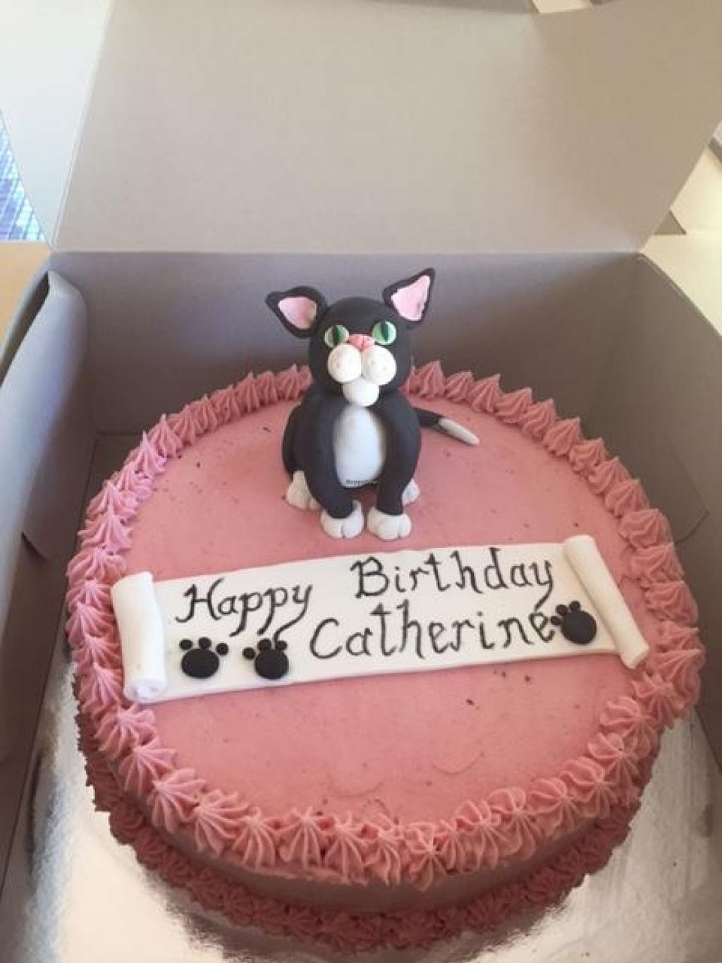 """Photo of OMV Bakery  by <a href=""""/members/profile/Kittybiscuit"""">Kittybiscuit</a> <br/>My birthday cake with cat design <br/> January 18, 2016  - <a href='/contact/abuse/image/66532/132850'>Report</a>"""