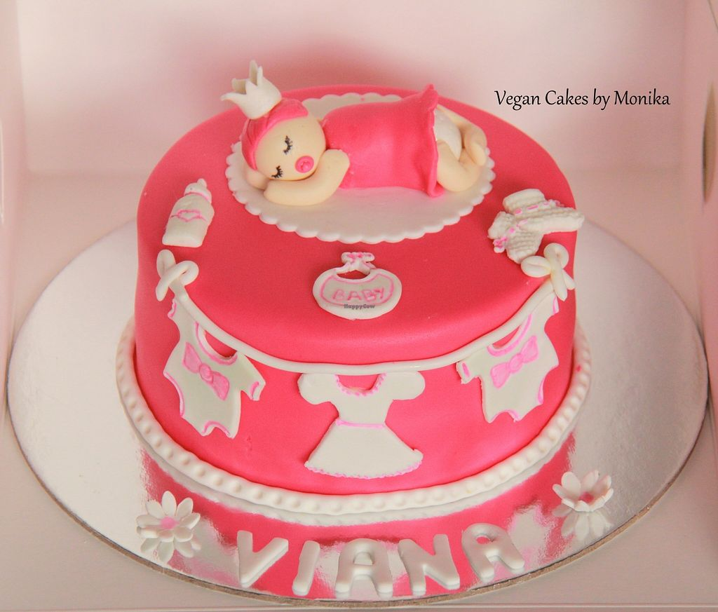 "Photo of Vegan Cakes By Monika  by <a href=""/members/profile/MonikaMehta"">MonikaMehta</a> <br/>Vegan Customised cake to welcome Lil Princess  <br/> December 1, 2015  - <a href='/contact/abuse/image/66533/126873'>Report</a>"