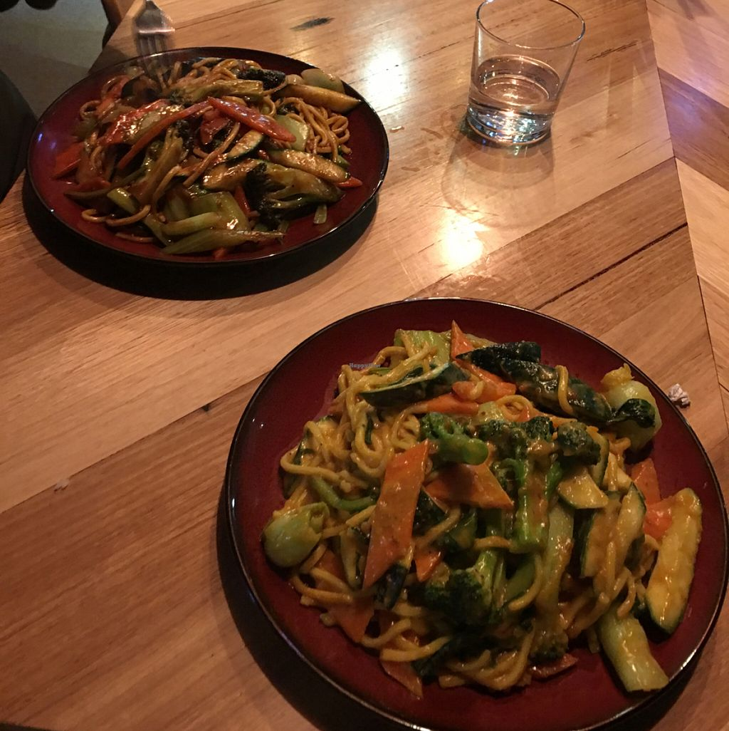 """Photo of Wok'd Gourmet Chinese  by <a href=""""/members/profile/Cateroseg"""">Cateroseg</a> <br/>Vegan satay hokkien noodles and vegan mongolian hokkien <br/> June 12, 2016  - <a href='/contact/abuse/image/66570/153585'>Report</a>"""