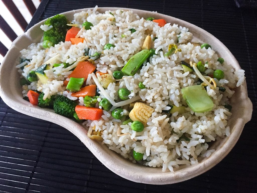 """Photo of Wok'd Gourmet Chinese  by <a href=""""/members/profile/karlaess"""">karlaess</a> <br/>Vegetarian fried rice (no egg) <br/> December 2, 2015  - <a href='/contact/abuse/image/66573/126950'>Report</a>"""