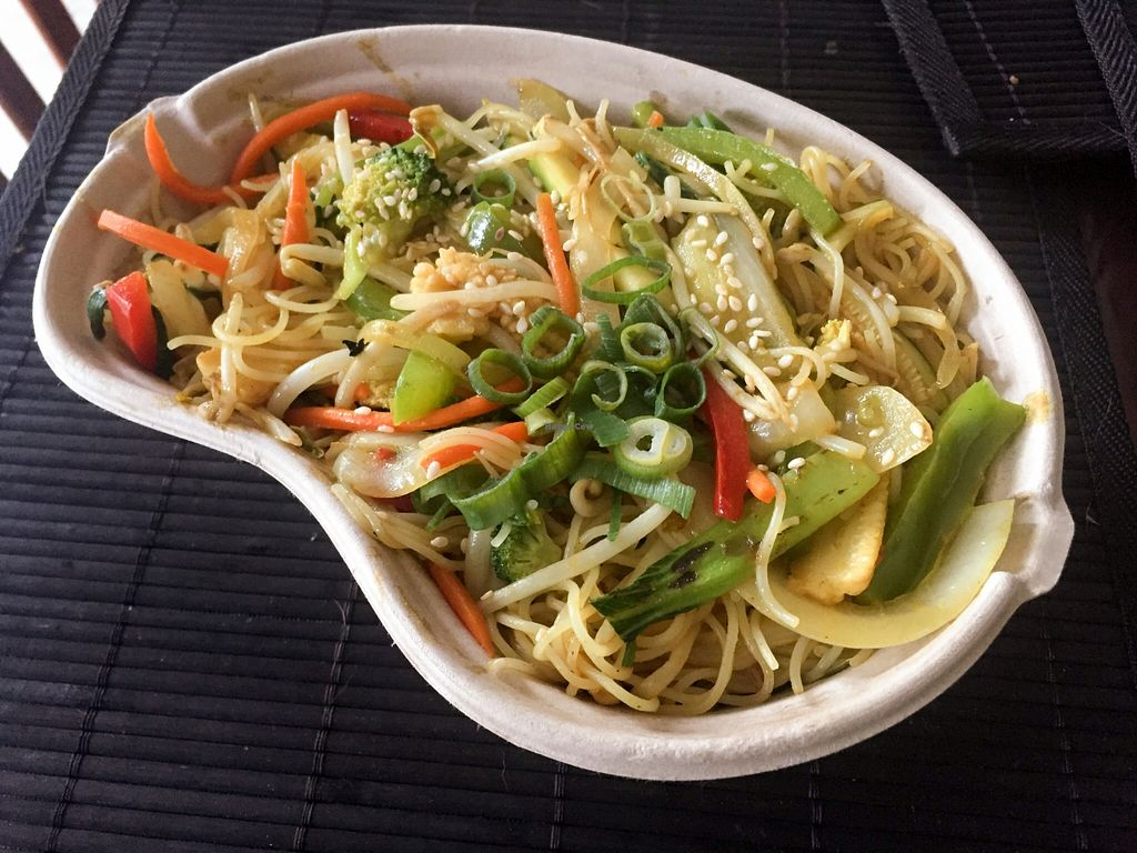 """Photo of Wok'd Gourmet Chinese  by <a href=""""/members/profile/karlaess"""">karlaess</a> <br/>Vegetarian Singapore Noodles (no egg) <br/> December 2, 2015  - <a href='/contact/abuse/image/66573/126951'>Report</a>"""