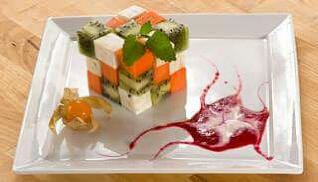 """Photo of CLOSED: Green Village  by <a href=""""/members/profile/Piadg"""">Piadg</a> <br/>Creative dessert, the Rubics cube. 100% vegan <br/> March 19, 2016  - <a href='/contact/abuse/image/66607/140547'>Report</a>"""
