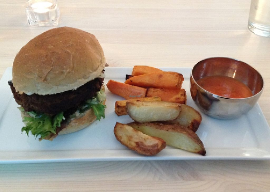 """Photo of CLOSED: Green Village  by <a href=""""/members/profile/Mausebea"""">Mausebea</a> <br/>Sweet potatoe burger  <br/> May 15, 2016  - <a href='/contact/abuse/image/66607/240596'>Report</a>"""