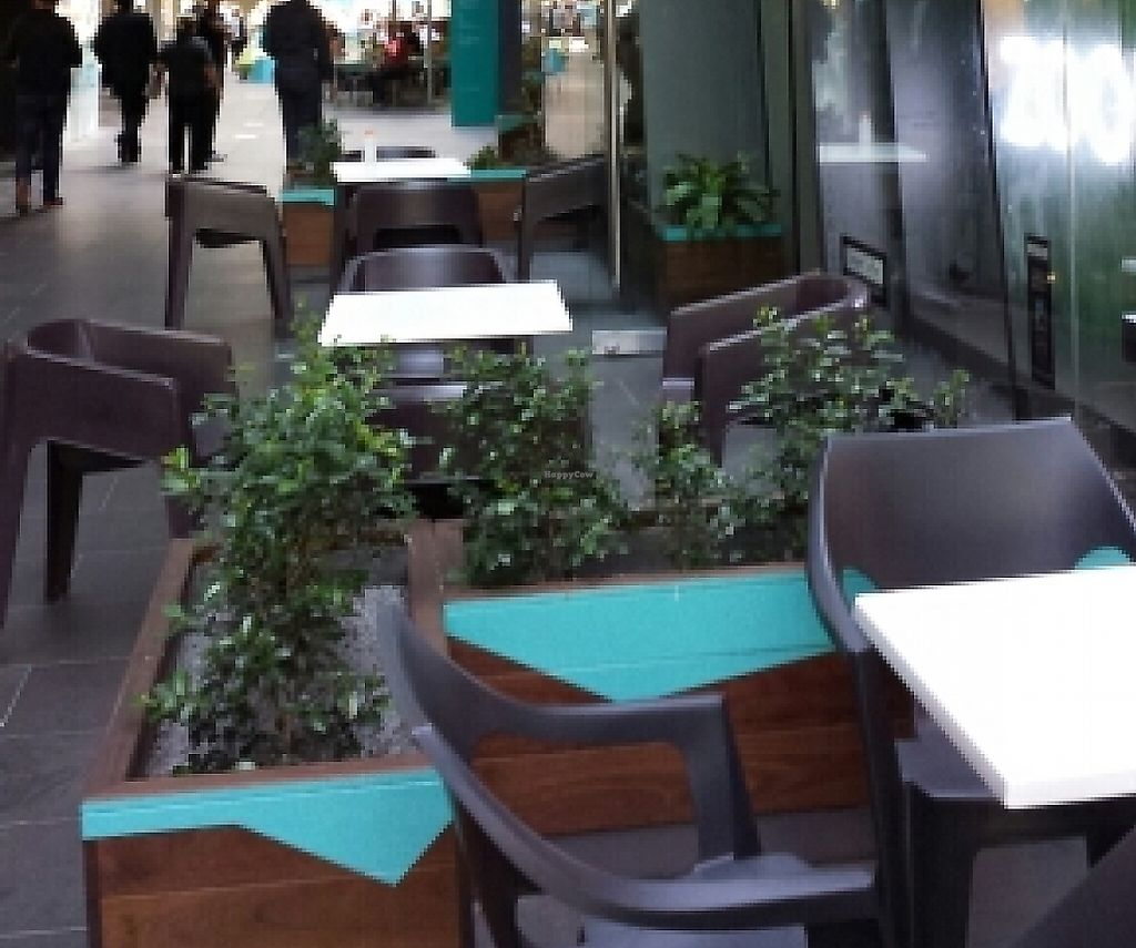 """Photo of Zoom Organic  by <a href=""""/members/profile/Aloo"""">Aloo</a> <br/>Outside seating in Madame Brussels Lane <br/> December 3, 2015  - <a href='/contact/abuse/image/66634/260164'>Report</a>"""