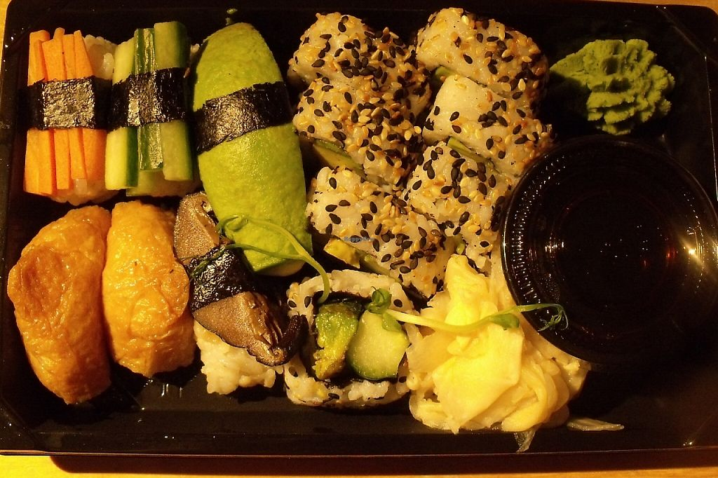 """Photo of Kina Thai - Tornby  by <a href=""""/members/profile/Amy1274"""">Amy1274</a> <br/>12-piece vegetarian sushi <br/> March 21, 2016  - <a href='/contact/abuse/image/66671/244134'>Report</a>"""