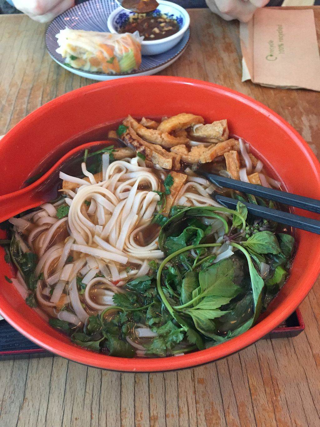 """Photo of Fei Scho  by <a href=""""/members/profile/catshaw"""">catshaw</a> <br/>Amazing Vegan Pho! <br/> February 15, 2018  - <a href='/contact/abuse/image/66700/359754'>Report</a>"""