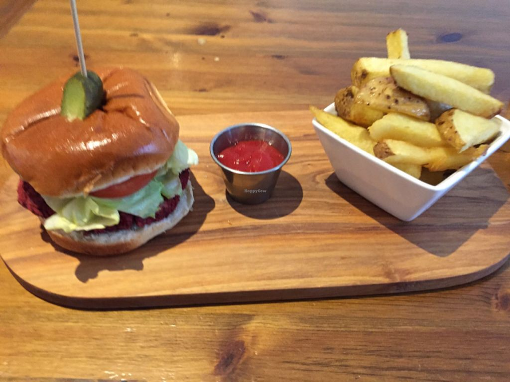 """Photo of REMOVED: Crafty Crow  by <a href=""""/members/profile/Chris_D"""">Chris_D</a> <br/>Beetroot burger <br/> May 31, 2016  - <a href='/contact/abuse/image/66705/151618'>Report</a>"""