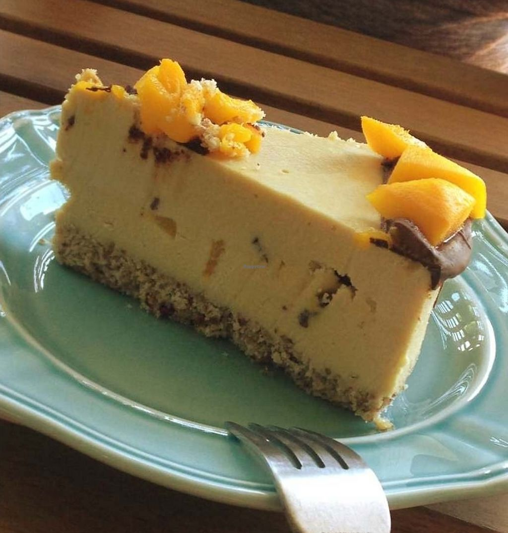 """Photo of CLOSED - Indulge Cafe  by <a href=""""/members/profile/mas"""">mas</a> <br/>Amazing vegan mango coconut cheesecake  <br/> June 24, 2016  - <a href='/contact/abuse/image/66709/209263'>Report</a>"""