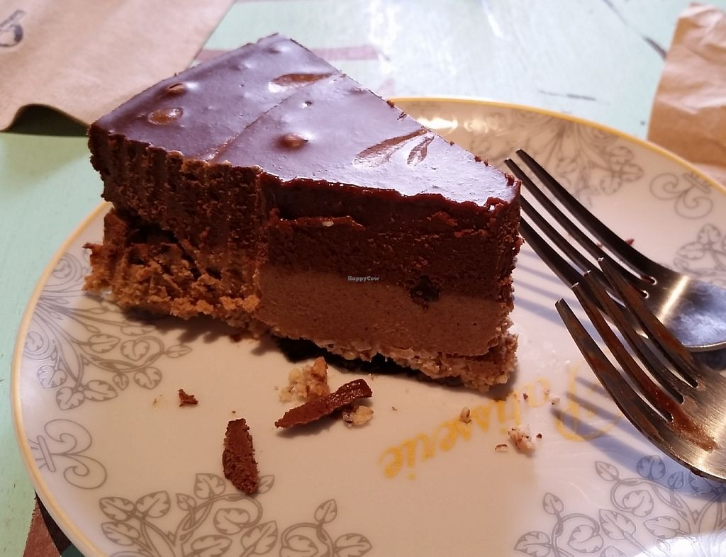"""Photo of CLOSED - Indulge Cafe  by <a href=""""/members/profile/bduboff"""">bduboff</a> <br/>vegan cashew chestnut chocolate cheesecake!!! <br/> December 29, 2015  - <a href='/contact/abuse/image/66709/209267'>Report</a>"""