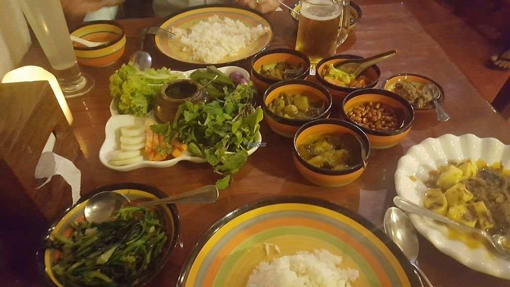 """Photo of Mingalabar Myanmar Restaurant  by <a href=""""/members/profile/MariaS"""">MariaS</a> <br/>complementary dishes <br/> April 15, 2017  - <a href='/contact/abuse/image/66731/248383'>Report</a>"""
