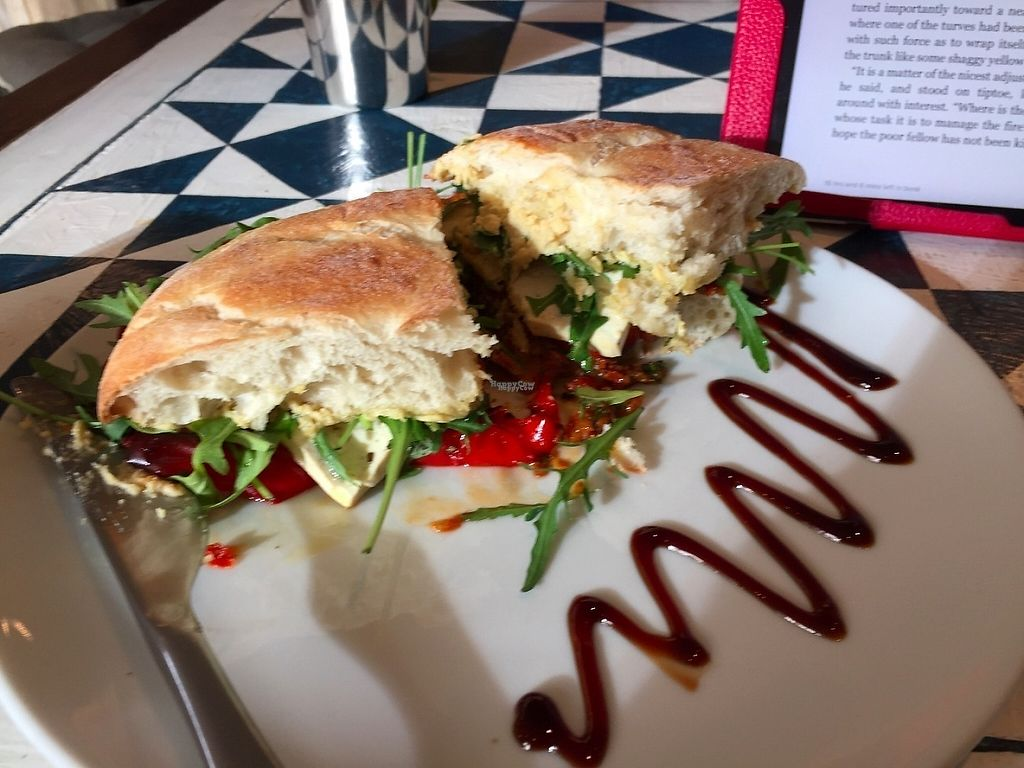 "Photo of GustaV  by <a href=""/members/profile/JennyOstermiller"">JennyOstermiller</a> <br/>Mediterranean themed sandwich (I can't remember the exact name, but it was delicious!!) <br/> April 13, 2017  - <a href='/contact/abuse/image/66733/247430'>Report</a>"