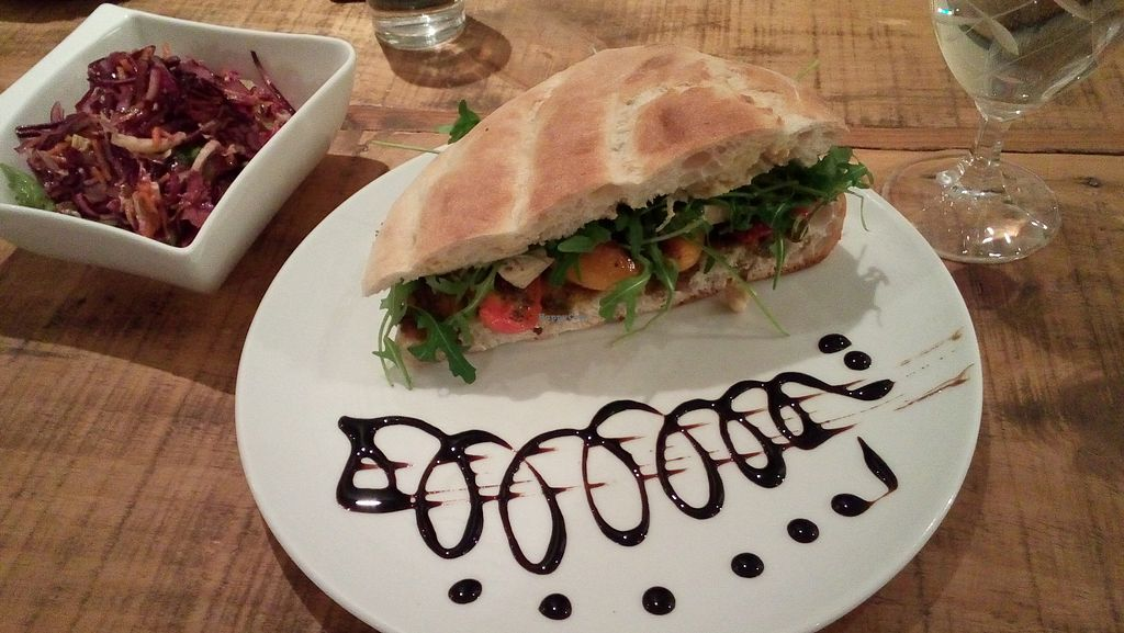 "Photo of GustaV  by <a href=""/members/profile/veganmz"">veganmz</a> <br/>The Mediterranean sandwich  <br/> December 17, 2017  - <a href='/contact/abuse/image/66733/336573'>Report</a>"