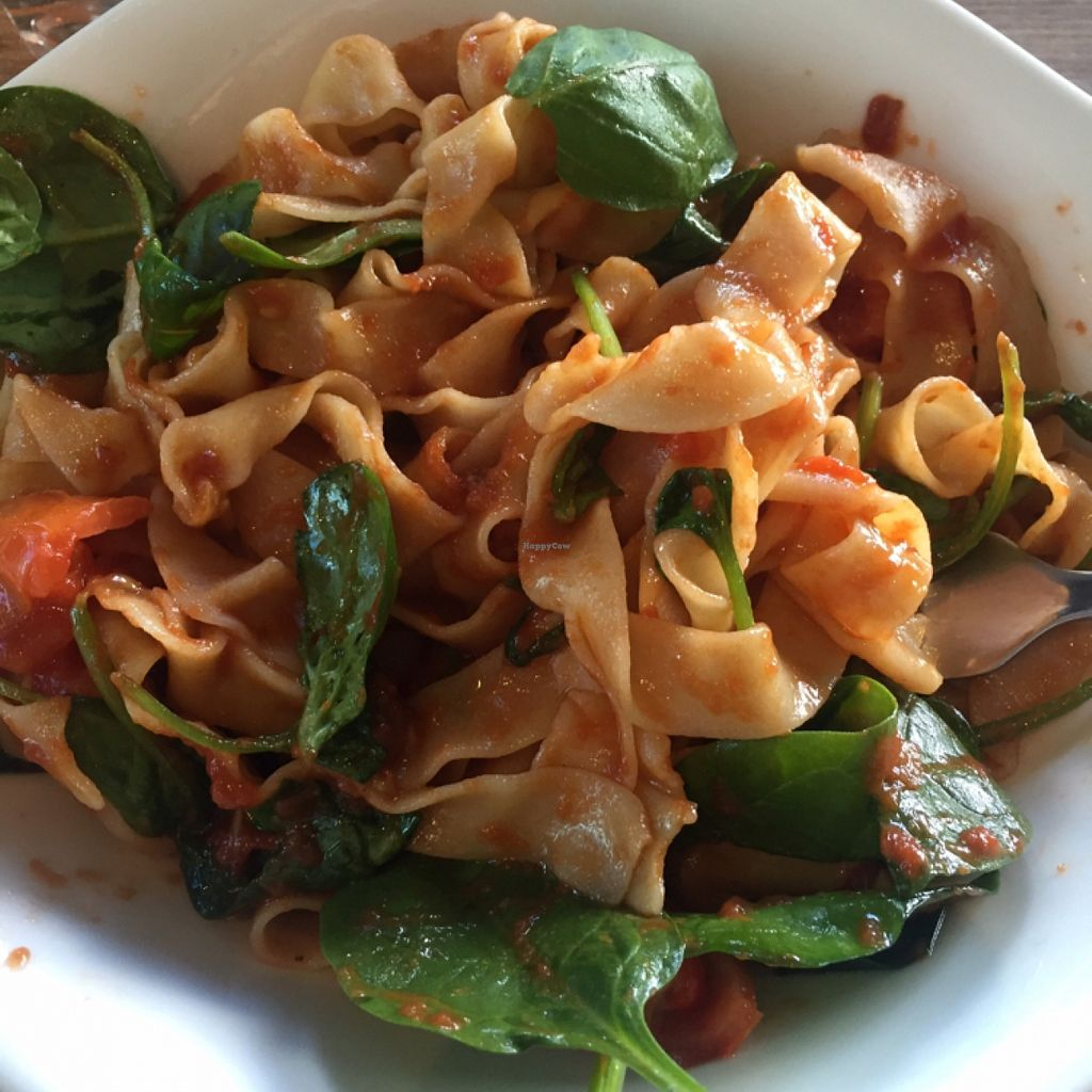 """Photo of Vapiano  by <a href=""""/members/profile/Rabbitnom"""">Rabbitnom</a> <br/>pomodoro on tagliatelle with added spinach <br/> May 7, 2016  - <a href='/contact/abuse/image/66753/147966'>Report</a>"""