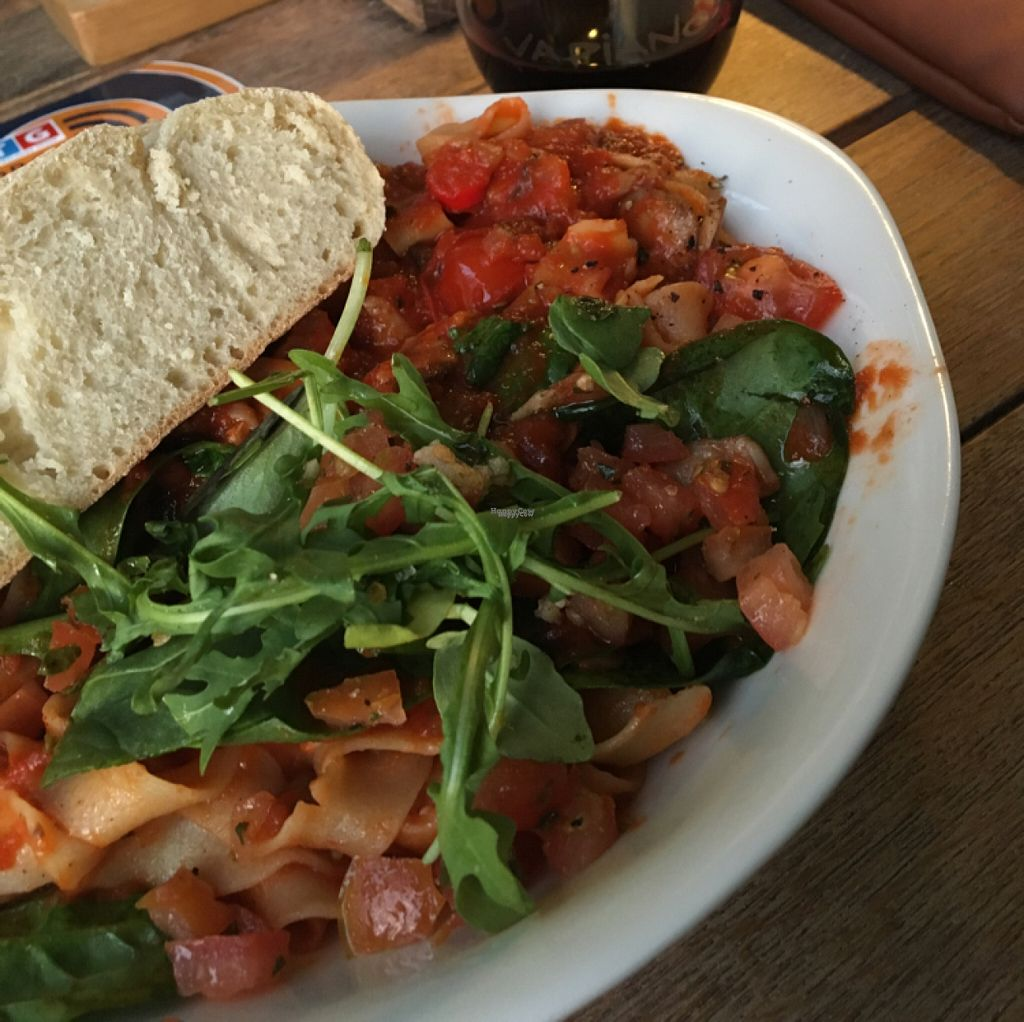 """Photo of Vapiano  by <a href=""""/members/profile/BeeLogea"""">BeeLogea</a> <br/>Pomodoro pasta with extra spinach <br/> October 29, 2016  - <a href='/contact/abuse/image/66753/185147'>Report</a>"""