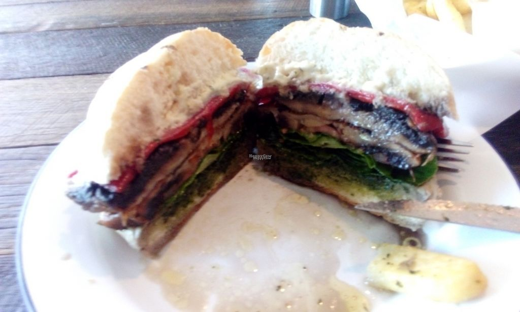 """Photo of Soul Burger - Randwick  by <a href=""""/members/profile/IsabelleTamm"""">IsabelleTamm</a> <br/>Field mushroom burger included 2 field mushrooms :) <br/> October 13, 2016  - <a href='/contact/abuse/image/66760/181747'>Report</a>"""