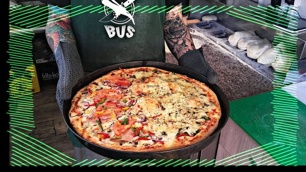 """Photo of Green Bus  by <a href=""""/members/profile/RoslinnieJemy"""">RoslinnieJemy</a> <br/>Vegan Pizza 2 <br/> May 14, 2016  - <a href='/contact/abuse/image/66764/148956'>Report</a>"""