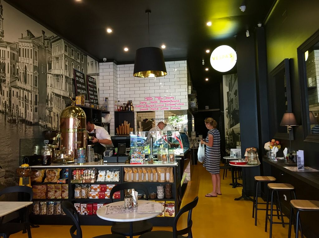 """Photo of Vespa's Gelateria  by <a href=""""/members/profile/karlaess"""">karlaess</a> <br/>Interior  <br/> December 16, 2015  - <a href='/contact/abuse/image/66827/128775'>Report</a>"""
