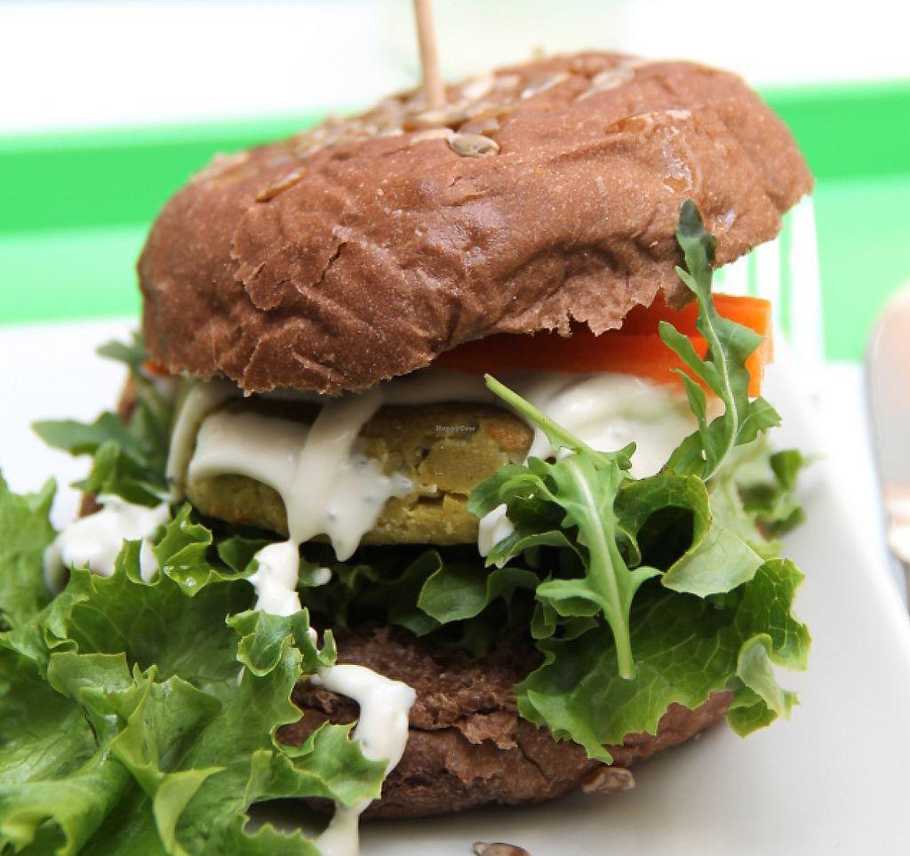 "Photo of Vegana Burgers - Atrium Saldanha  by <a href=""/members/profile/reissausta%20ja%20ruokaa"">reissausta ja ruokaa</a> <br/>Vegan burger.  <br/> July 29, 2016  - <a href='/contact/abuse/image/66852/241241'>Report</a>"