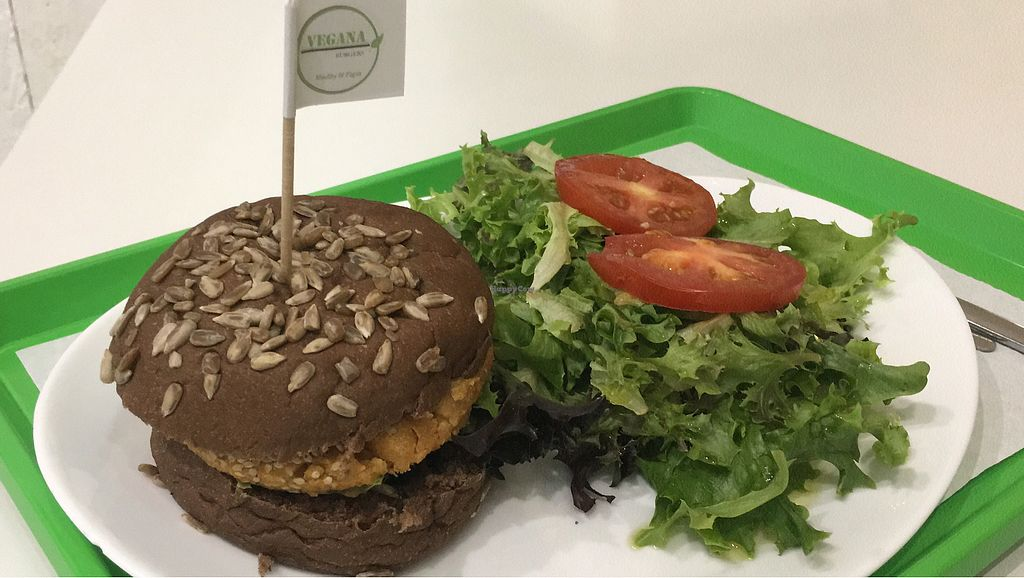 "Photo of Vegana Burgers - Atrium Saldanha  by <a href=""/members/profile/veganeconomist"">veganeconomist</a> <br/>Sweet potato and bean burger on carob bread <br/> August 24, 2017  - <a href='/contact/abuse/image/66852/296583'>Report</a>"