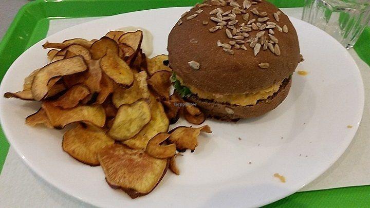 """Photo of Vegana Burgers - Atrium Saldanha  by <a href=""""/members/profile/FernandoMoreira"""">FernandoMoreira</a> <br/>chickpea and sweet potato burger <br/> April 9, 2018  - <a href='/contact/abuse/image/66852/383058'>Report</a>"""