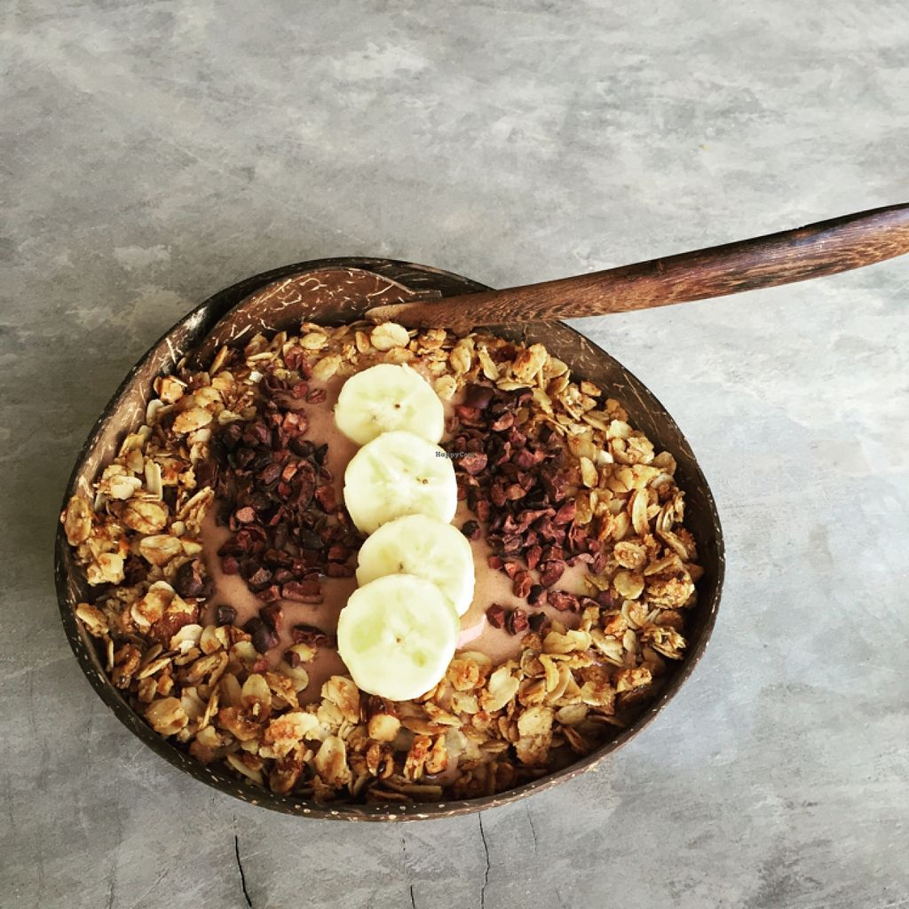 "Photo of Pure Koh Lanta  by <a href=""/members/profile/annamannamomanna"">annamannamomanna</a> <br/>amazing cocoa nib, maca, granola, banana & soymilk smoothie bowl! <br/> January 2, 2016  - <a href='/contact/abuse/image/66861/130831'>Report</a>"