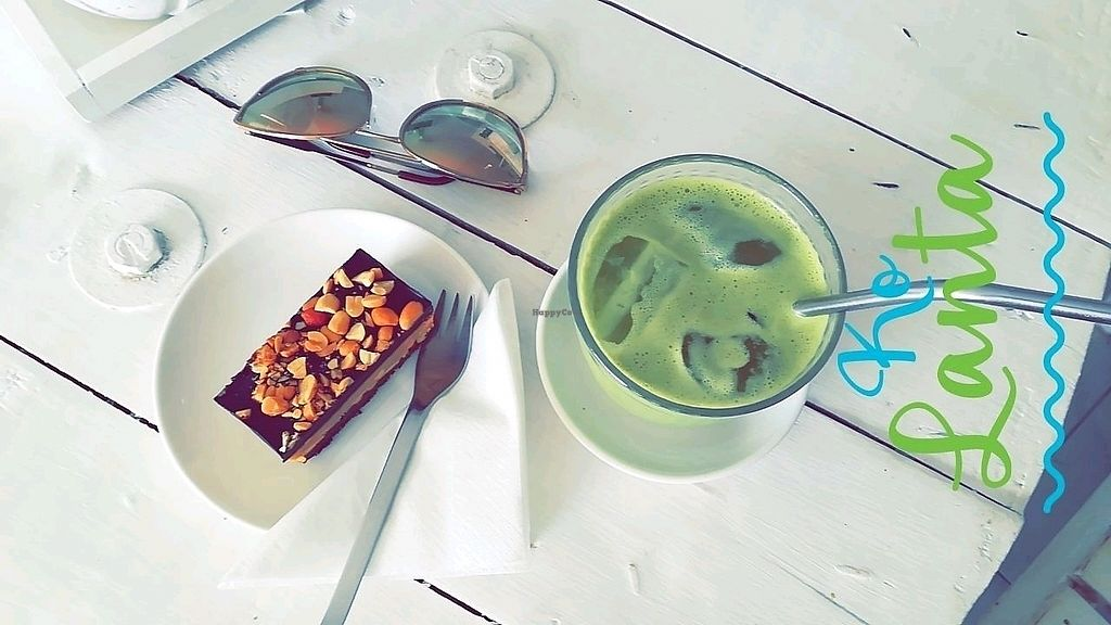 "Photo of Pure Koh Lanta  by <a href=""/members/profile/ChristinaBtn"">ChristinaBtn</a> <br/>raw peanut slice and matcha latte <br/> February 24, 2018  - <a href='/contact/abuse/image/66861/362983'>Report</a>"