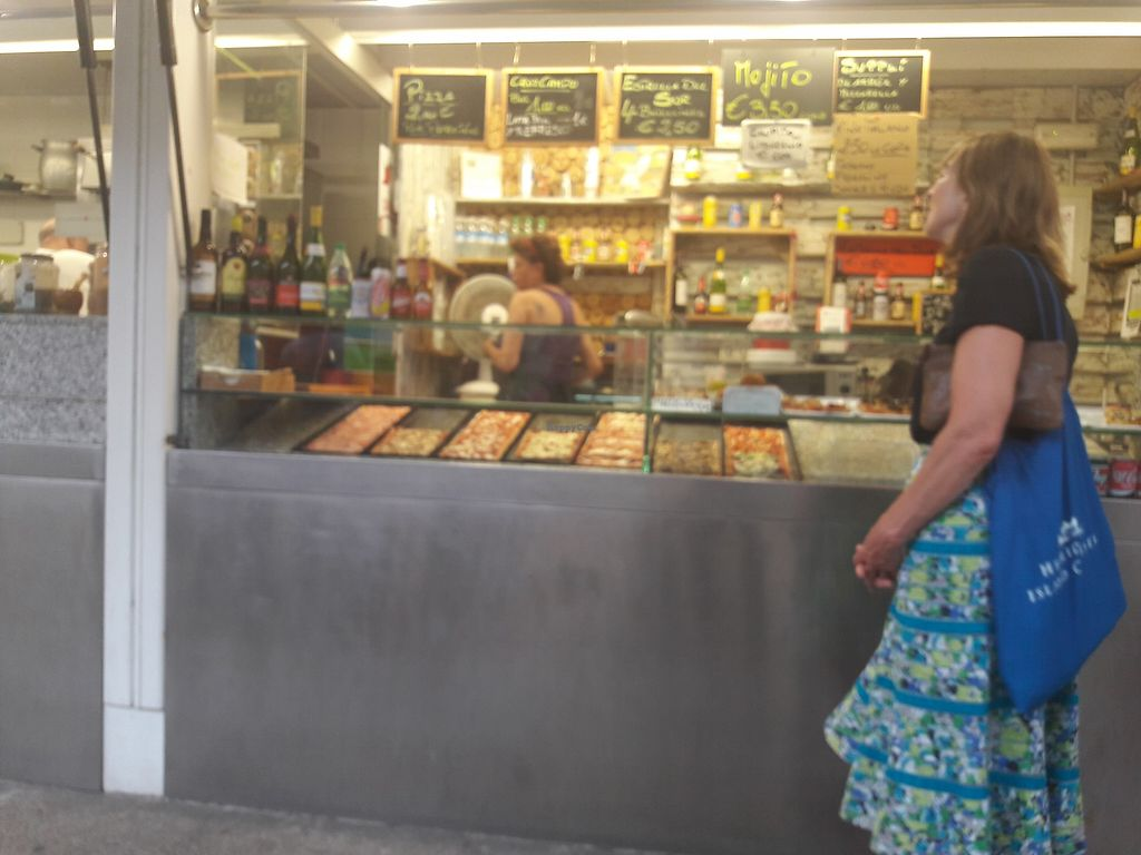 """Photo of Di Bocca in Bocca  by <a href=""""/members/profile/GonzaloCabeza"""">GonzaloCabeza</a> <br/>This is the stand, where you will see everything what do you want to eat, and the tables  are outside in front of the stand so you can order and they will serve you <br/> July 18, 2017  - <a href='/contact/abuse/image/66867/281739'>Report</a>"""