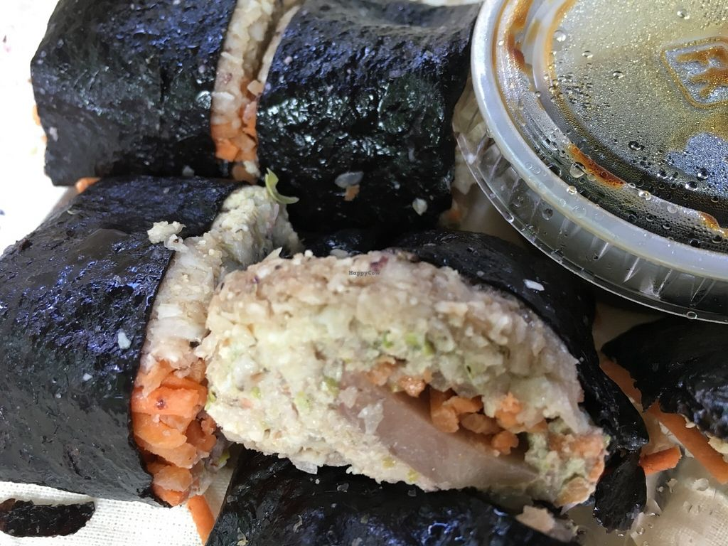 """Photo of CLOSED: Postmodern Foods  by <a href=""""/members/profile/cookiem"""">cookiem</a> <br/>raw sushi <br/> June 5, 2016  - <a href='/contact/abuse/image/66869/152370'>Report</a>"""