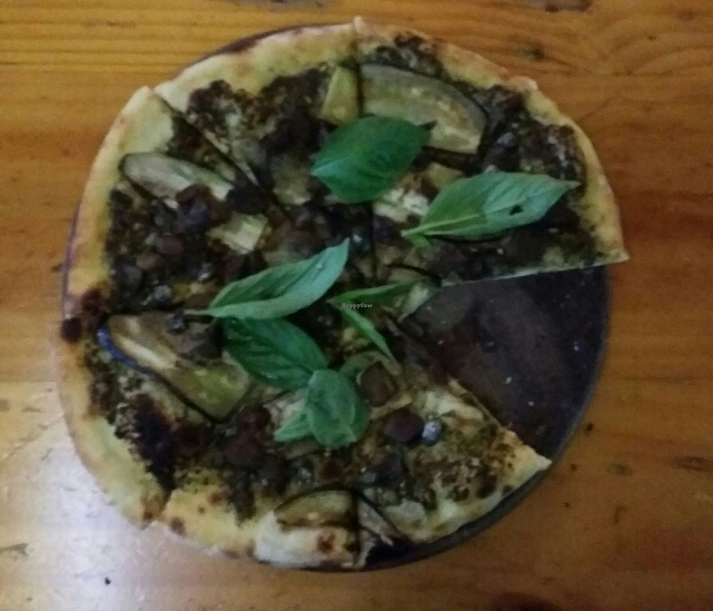 """Photo of By Hand Cafe  by <a href=""""/members/profile/Mike%20Munsie"""">Mike Munsie</a> <br/>green vegan pizza <br/> June 3, 2017  - <a href='/contact/abuse/image/66870/265525'>Report</a>"""
