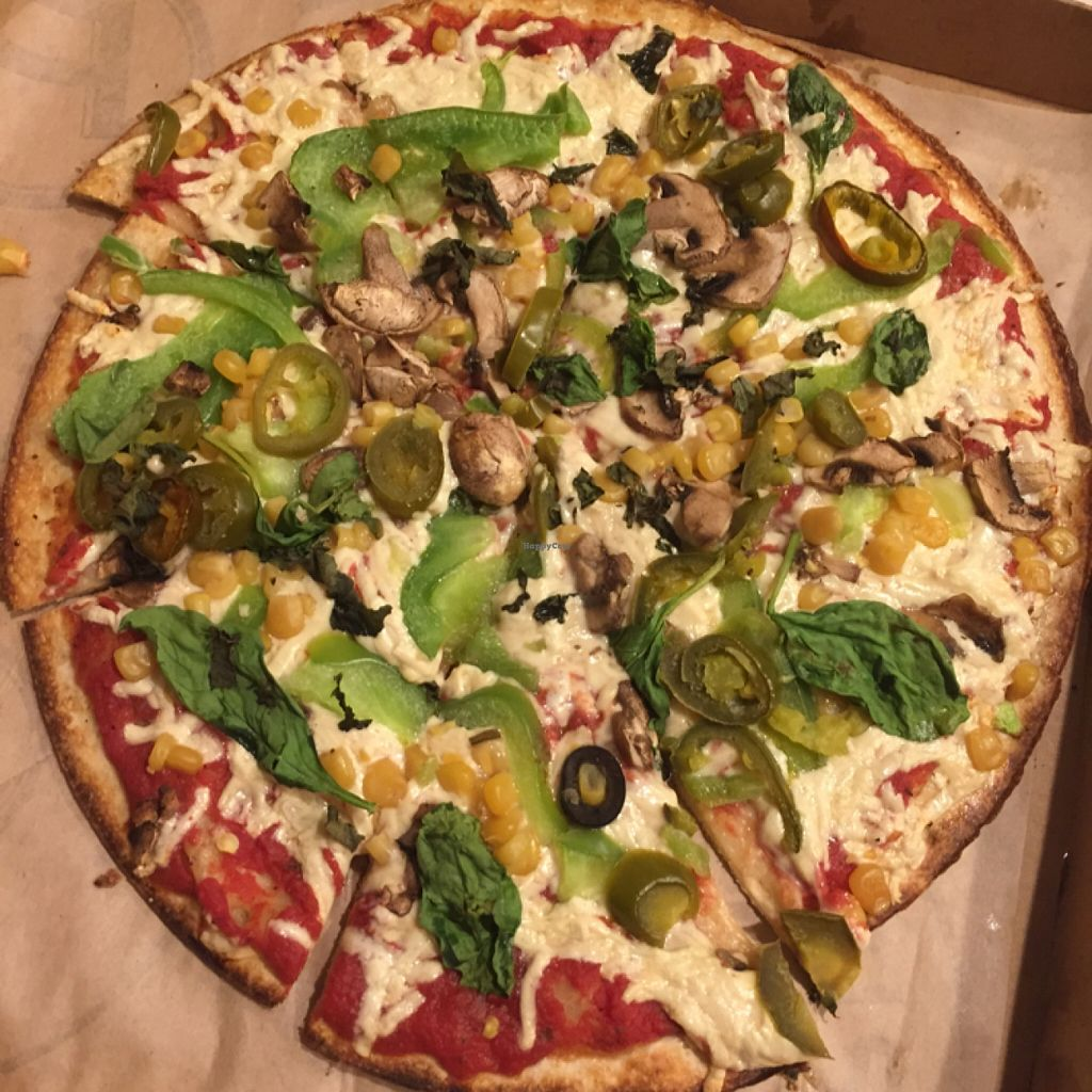 "Photo of Pieology  by <a href=""/members/profile/amyrrobles"">amyrrobles</a> <br/>loads of veggies on a vegan pizza! <br/> February 10, 2016  - <a href='/contact/abuse/image/66892/135743'>Report</a>"
