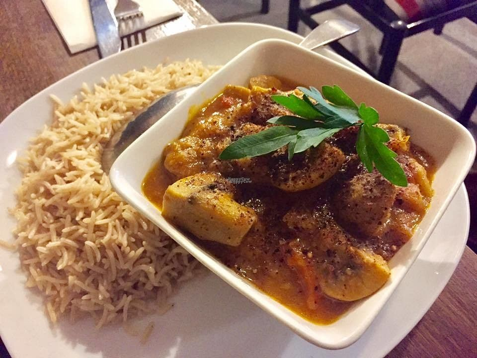 """Photo of Afghan Marcopolo  by <a href=""""/members/profile/karlaess"""">karlaess</a> <br/>Mushroom korma chalow  <br/> October 15, 2016  - <a href='/contact/abuse/image/66925/182176'>Report</a>"""