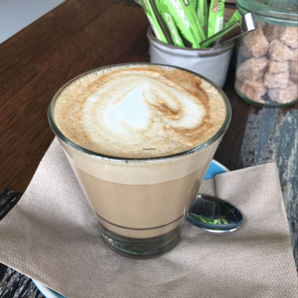 "Photo of Wholefood Merchants Kitchen  by <a href=""/members/profile/kateofearth"">kateofearth</a> <br/>delicious soy latte! <br/> January 23, 2016  - <a href='/contact/abuse/image/66926/133436'>Report</a>"