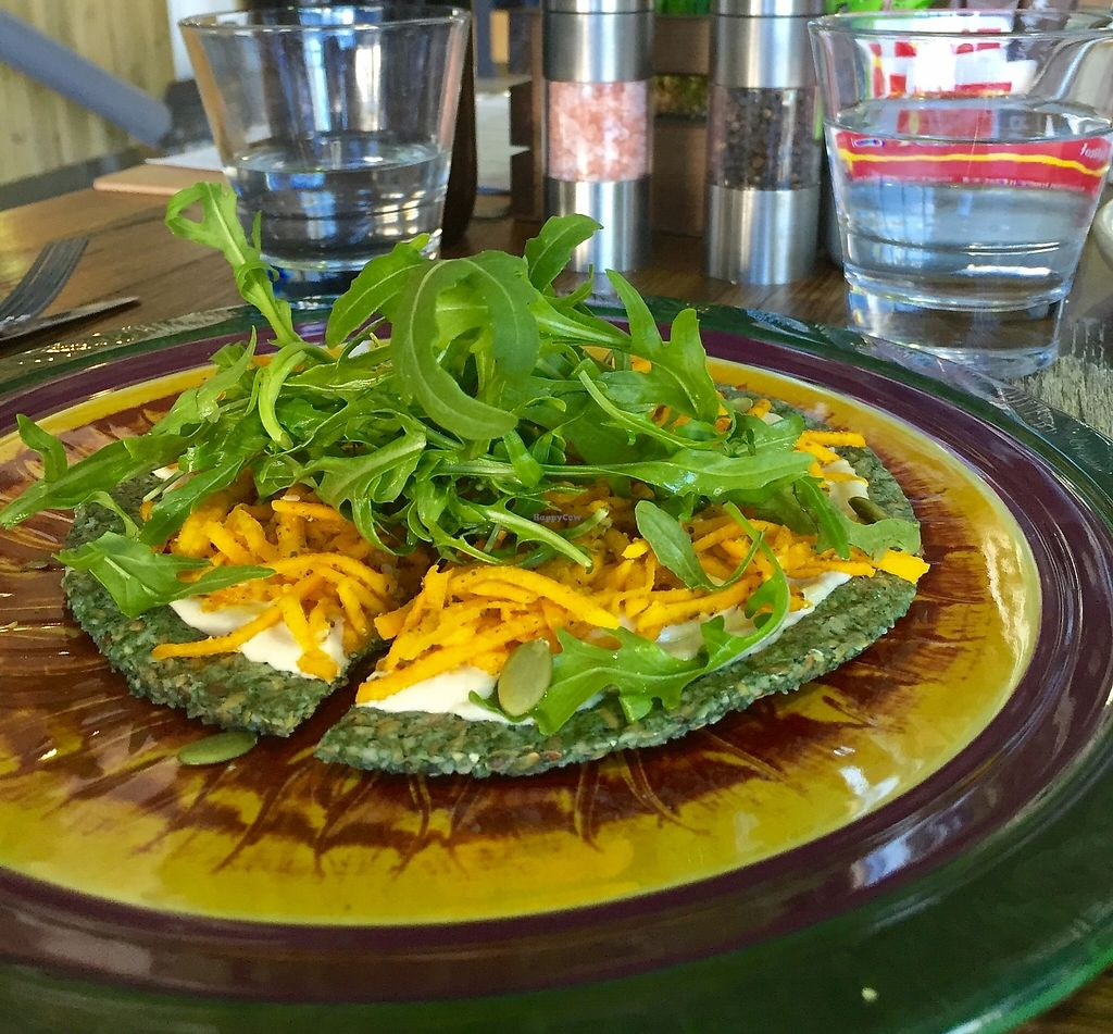 "Photo of Wholefood Merchants Kitchen  by <a href=""/members/profile/karlaess"">karlaess</a> <br/>Raw Vegan Moroccan pizza <br/> February 21, 2016  - <a href='/contact/abuse/image/66926/256470'>Report</a>"