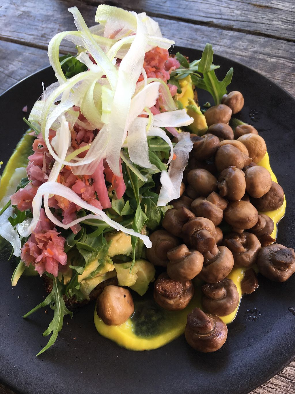 """Photo of Sprout Wholefood Cafe and Grocer  by <a href=""""/members/profile/Jennydegio"""">Jennydegio</a> <br/>Anti Inflam Stack with a side of mushrooms <br/> August 22, 2017  - <a href='/contact/abuse/image/66929/295425'>Report</a>"""