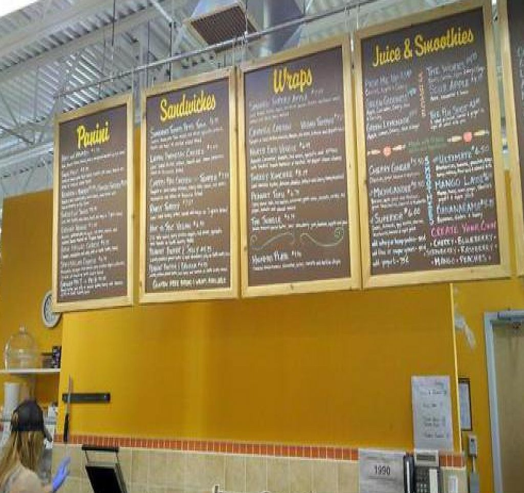 """Photo of Oryana Natural Foods Market  by <a href=""""/members/profile/happycowgirl"""">happycowgirl</a> <br/>menu board <br/> August 23, 2011  - <a href='/contact/abuse/image/6692/204828'>Report</a>"""