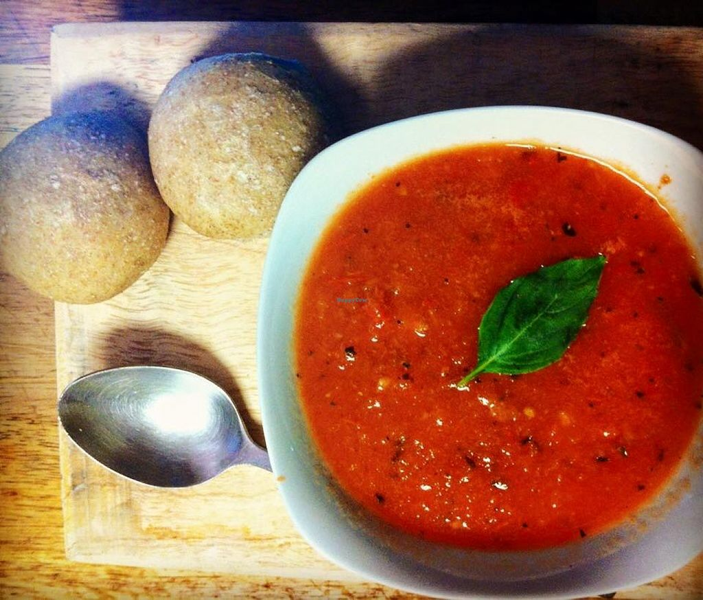 """Photo of Vieja Varsovia  by <a href=""""/members/profile/emma%20fabre"""">emma fabre</a> <br/>VEGAN TOMATO SOUP  <br/> December 11, 2015  - <a href='/contact/abuse/image/66940/127968'>Report</a>"""