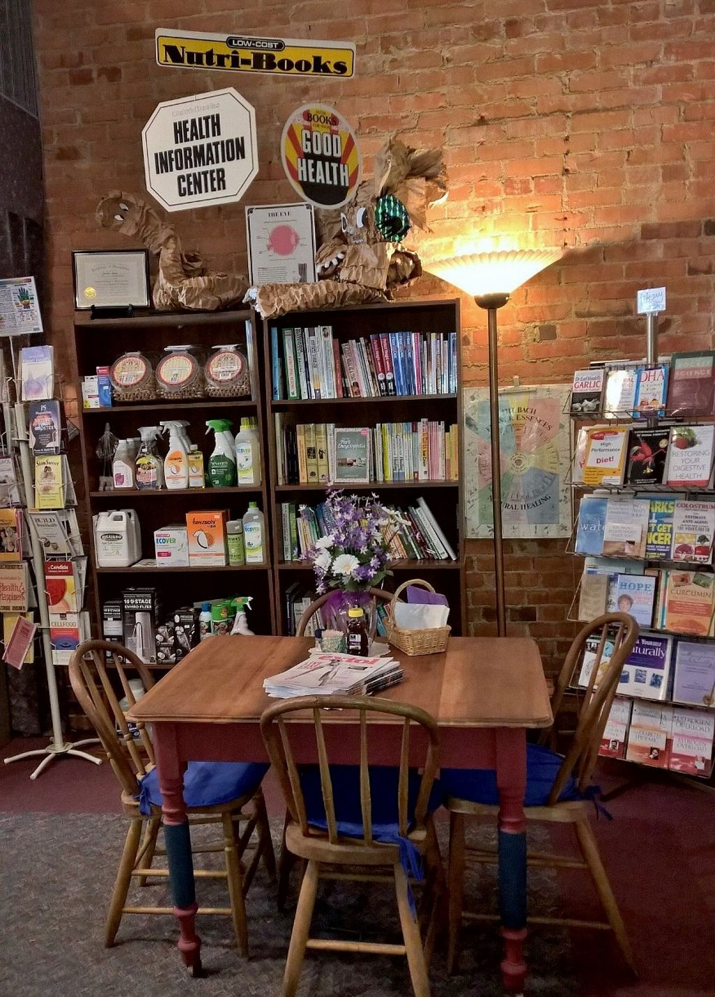 "Photo of Sunshine House Health Food Store & Cafe  by <a href=""/members/profile/Sunshine%20House"">Sunshine House</a> <br/>Seating complete with health library for browsing! Enjoy a cup of tea and educate yourself! <br/> December 19, 2015  - <a href='/contact/abuse/image/66942/129069'>Report</a>"