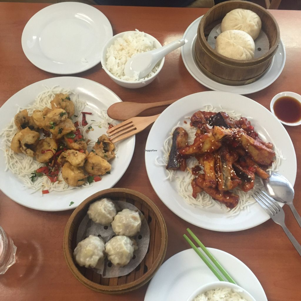 """Photo of Green Gourmet - St Leonards  by <a href=""""/members/profile/Lozcriston"""">Lozcriston</a> <br/>Salt and pepper mushrooms, dim sims, no pork BBQ buns, and eggplant <br/> January 9, 2016  - <a href='/contact/abuse/image/6694/131623'>Report</a>"""