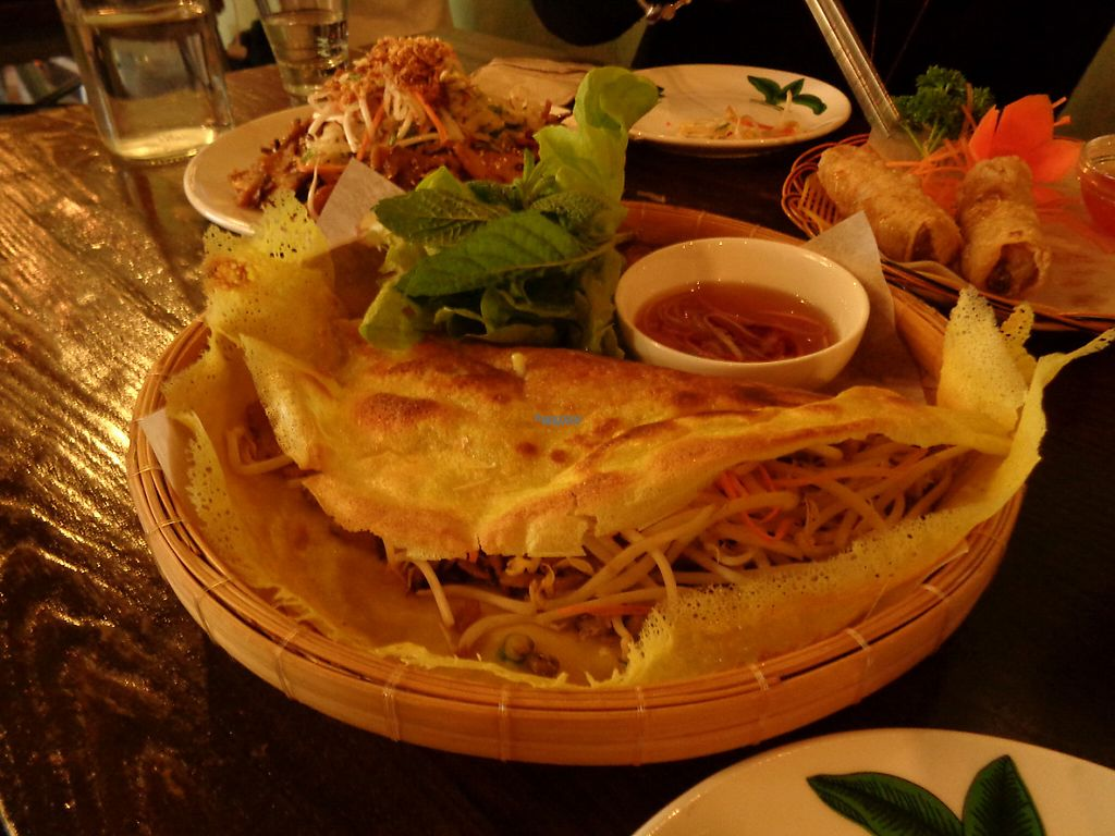 """Photo of Banh Mi Caphe  by <a href=""""/members/profile/citizenInsane"""">citizenInsane</a> <br/>Banh Mi Caphe, vegan savoury pancake stuffed with sprouts and sauteed mushrooms <br/> November 11, 2016  - <a href='/contact/abuse/image/66956/188746'>Report</a>"""