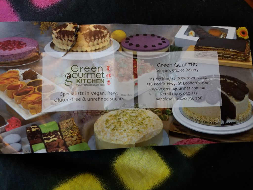 """Photo of Vegan's Choice Grocery  by <a href=""""/members/profile/veganvirtues"""">veganvirtues</a> <br/>Green Gourmet makes vegan cakes to order <br/> June 23, 2017  - <a href='/contact/abuse/image/6695/272472'>Report</a>"""