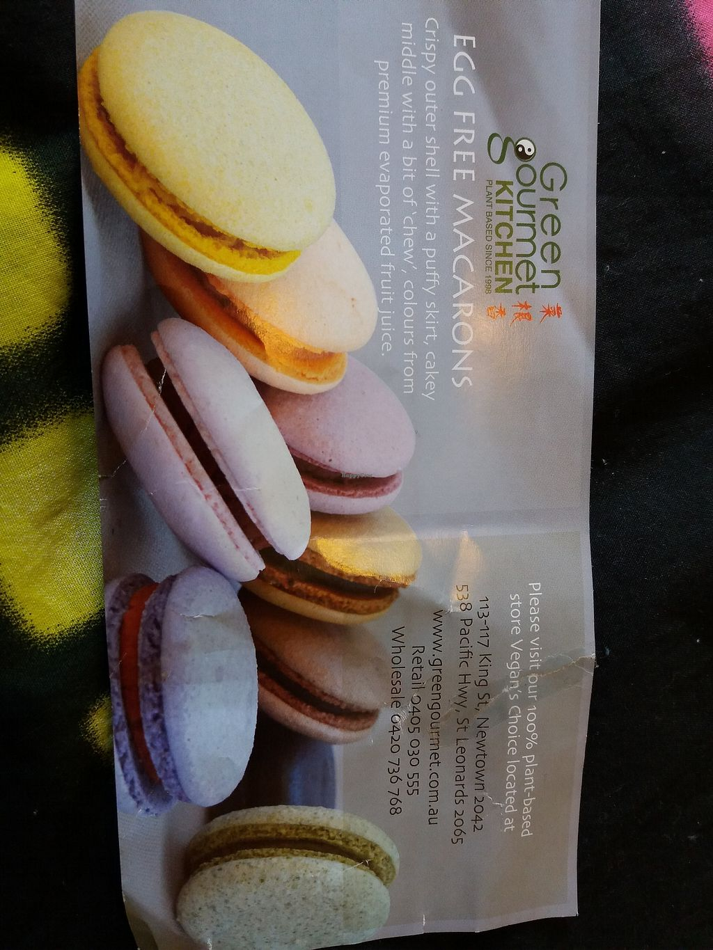"""Photo of Vegan's Choice Grocery  by <a href=""""/members/profile/veganvirtues"""">veganvirtues</a> <br/>Vegan macaroons <br/> June 23, 2017  - <a href='/contact/abuse/image/6695/272473'>Report</a>"""