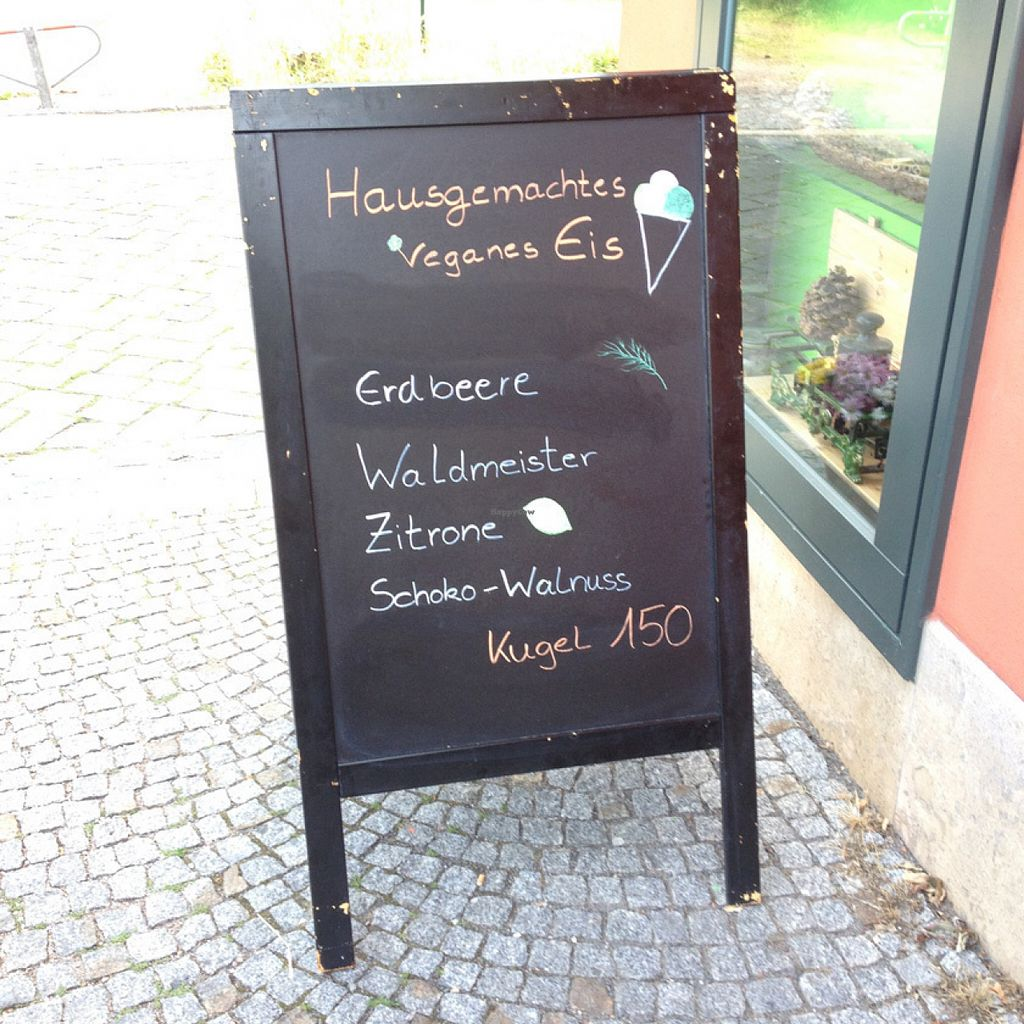 """Photo of Bistro & Cafe Gartenliebe  by <a href=""""/members/profile/Waldpicknick"""">Waldpicknick</a> <br/>Locally made vegan Ice Cream is hard to find sometimes in Germany.  <br/> July 15, 2016  - <a href='/contact/abuse/image/66964/160086'>Report</a>"""