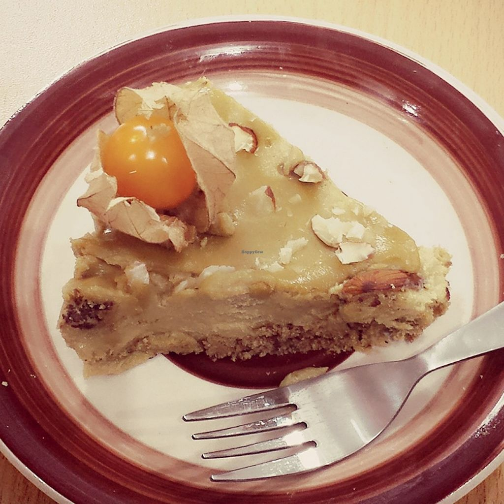 "Photo of CLOSED: QIWA Organic Store and Cafe  by <a href=""/members/profile/Marishita%20Amado"">Marishita Amado</a> <br/>Lucuma's Cheescake.. It's vegan !!  <br/> December 14, 2015  - <a href='/contact/abuse/image/66978/128432'>Report</a>"