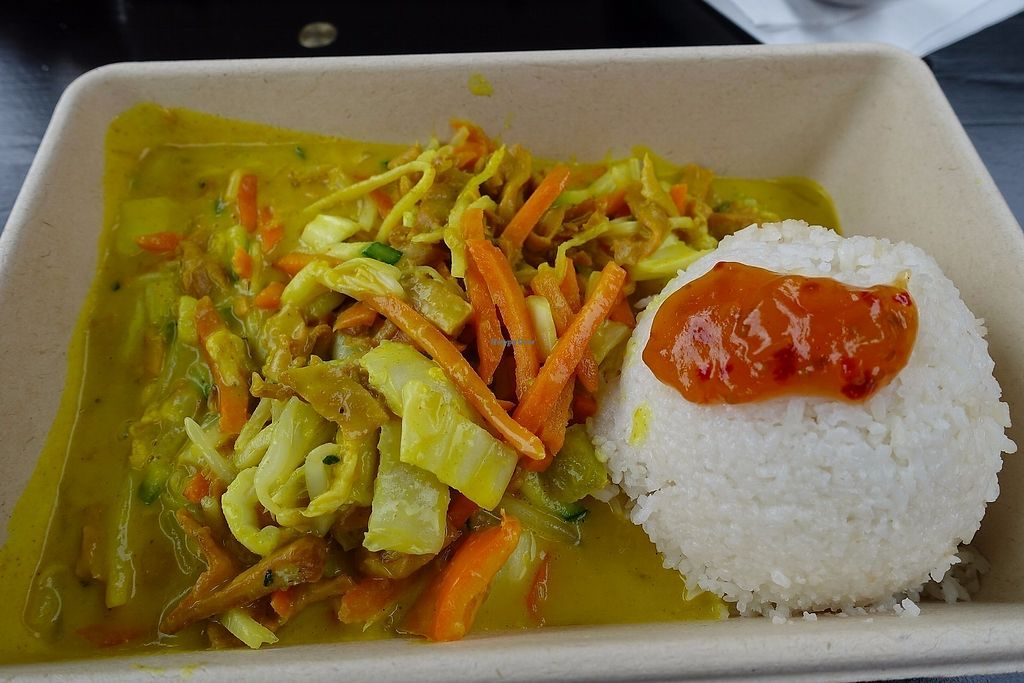 """Photo of LOFT Carlsplatz  by <a href=""""/members/profile/DusselDaene"""">DusselDaene</a> <br/>Yellow curry with soy chunks <br/> June 18, 2017  - <a href='/contact/abuse/image/66984/270432'>Report</a>"""
