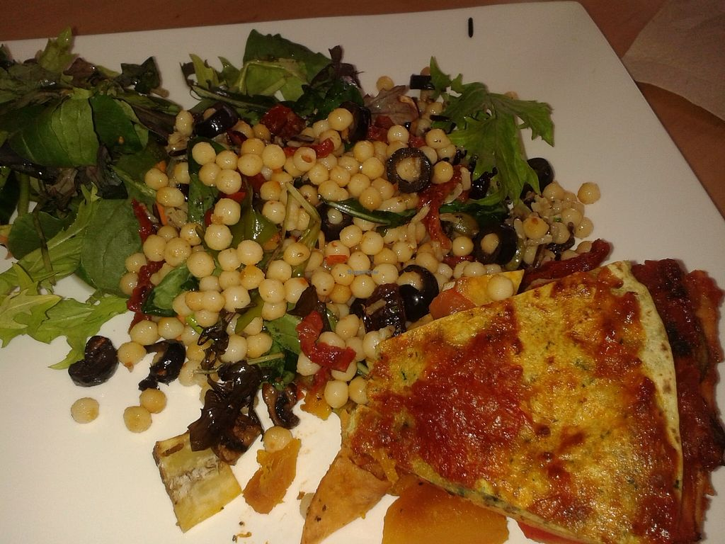 "Photo of CLOSED: Coffee of Philosophy  by <a href=""/members/profile/Veganswife"">Veganswife</a> <br/>Tasty vege stack with salads <br/> December 14, 2015  - <a href='/contact/abuse/image/66985/128500'>Report</a>"