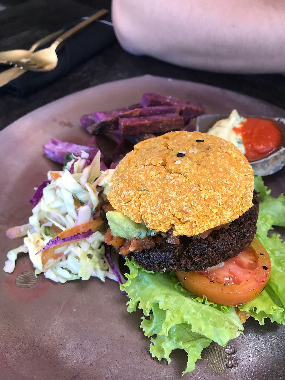 "Photo of Moksa Ubud  by <a href=""/members/profile/RossEcheverria"">RossEcheverria</a> <br/> Vegan burger  <br/> April 1, 2018  - <a href='/contact/abuse/image/66999/379462'>Report</a>"