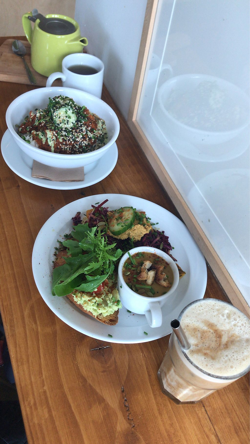 "Photo of Sweet Beat Cafe  by <a href=""/members/profile/OrlaDonnelly"">OrlaDonnelly</a> <br/>Red lentil daal and 3-in-1 super salad, soup and avo toast with peppermint tea and iced coffee <br/> May 15, 2018  - <a href='/contact/abuse/image/67016/400192'>Report</a>"