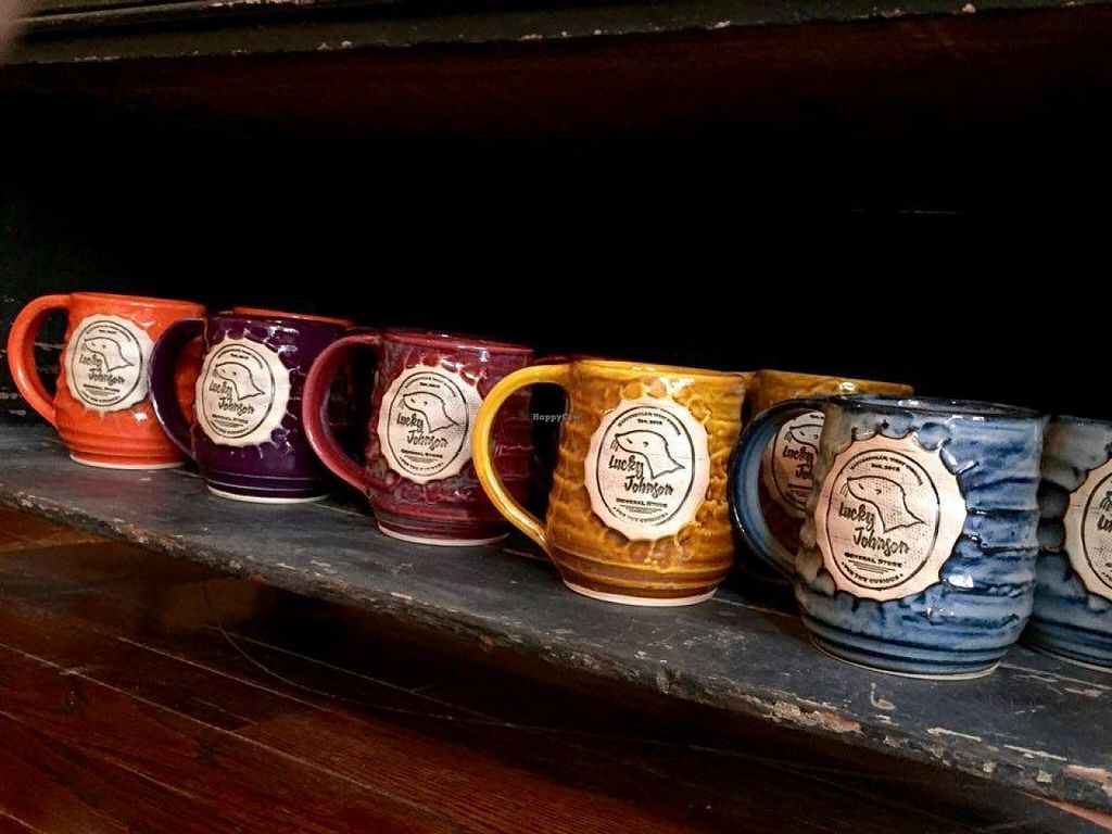"Photo of Lucky Johnson General Store  by <a href=""/members/profile/avjohnson"">avjohnson</a> <br/>Hand-thrown mugs from MUD Ceramics <br/> December 13, 2015  - <a href='/contact/abuse/image/67027/128313'>Report</a>"