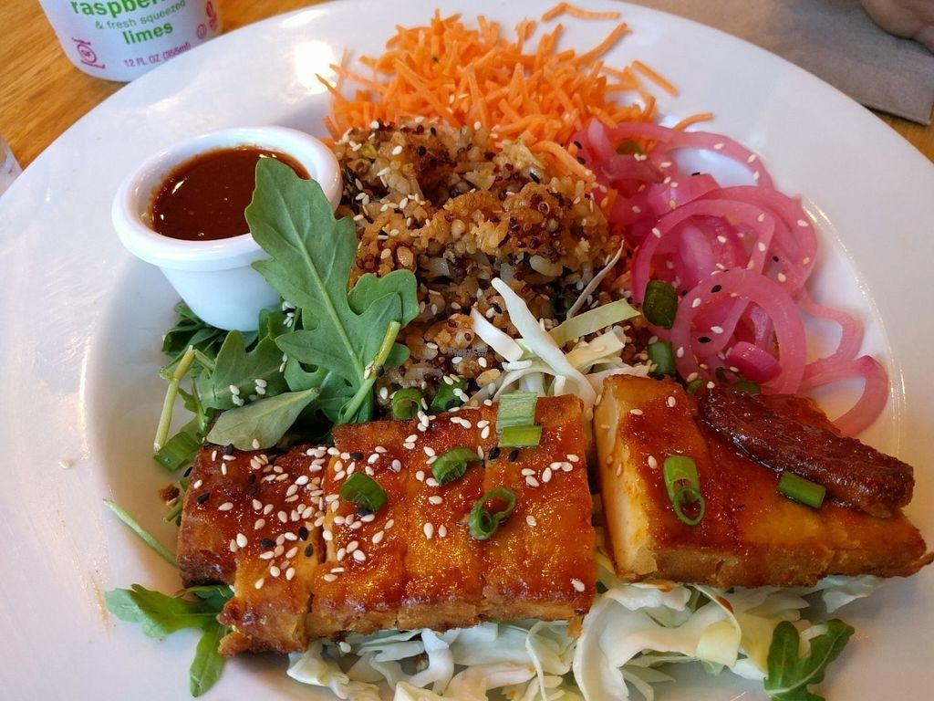 """Photo of Veggie Grill  by <a href=""""/members/profile/Sonja%20and%20Dirk"""">Sonja and Dirk</a> <br/>Seoul bowl <br/> August 14, 2016  - <a href='/contact/abuse/image/67031/168697'>Report</a>"""